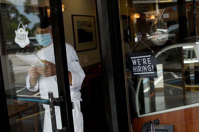 U.S. leisure and hospitality pay surges to a record. Now will workers come?