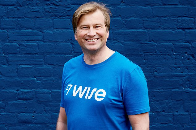 London listing: Wise co-founders Kristo Käärmann (pictured) and Taavet Hinrikus, as well as investors such as Richard Branson, are set to make huge windfalls when the company floats