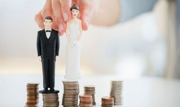 Marriage Allowance: Bride and groom