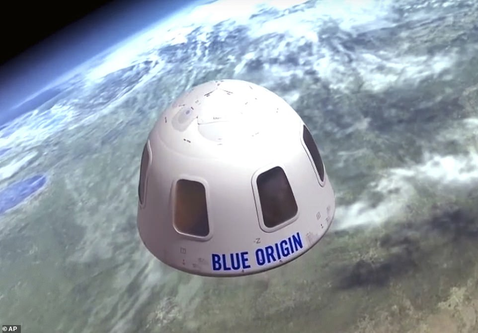 Blue Origin has provided illustrations of what the capsule will look like in space