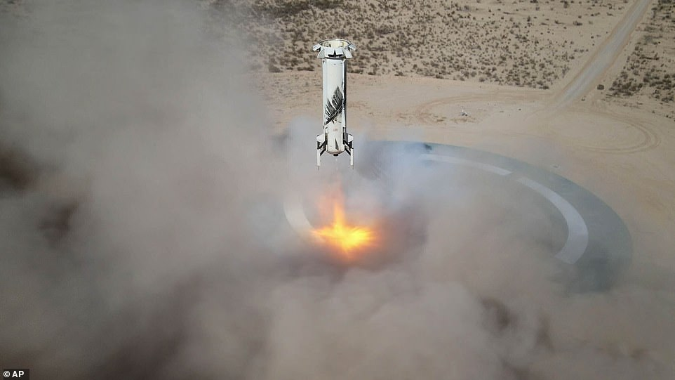 The crew of four will fly above 80 miles to pass the Karman line aboard the Blue Origin New Shepard rocket from Texas