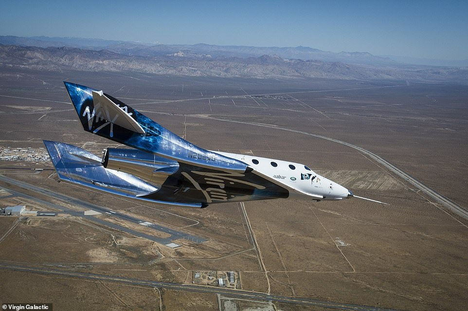 Virgin Galactic's VSS Unity used its mothership VMS Eve to fly 53.5 miles above the Earth's surface on July 11 above the New Mexico desert