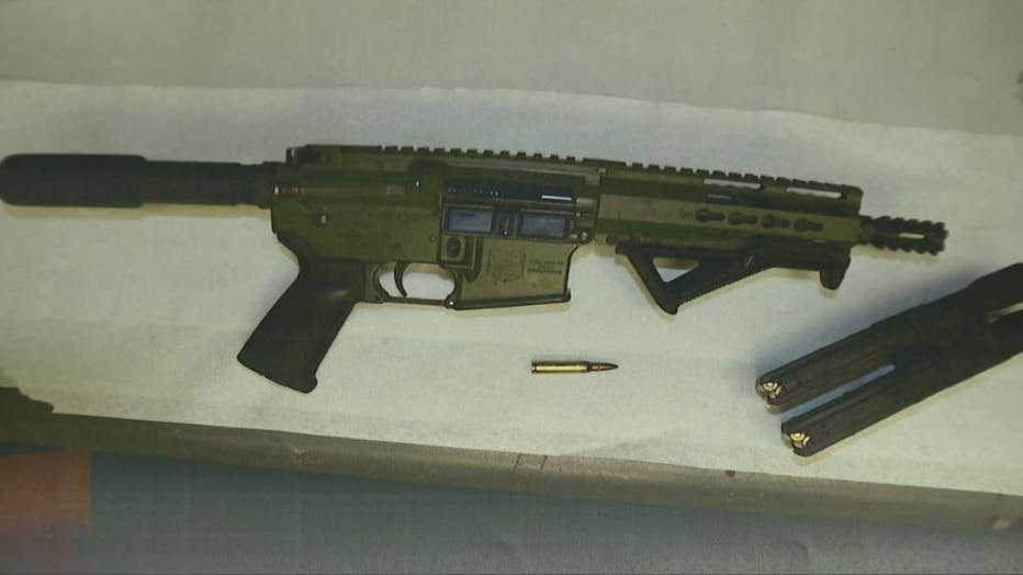 One of the two guns recovered by Southfield police after the arrest.