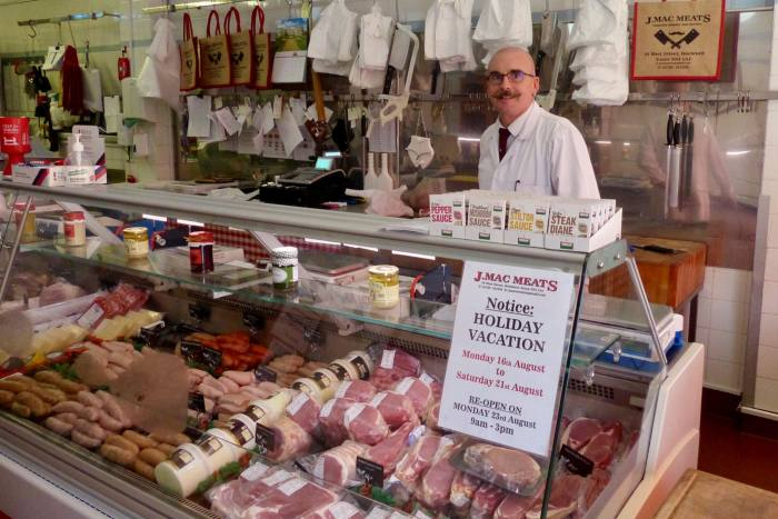 Rochford's local butcher Jason Macaree says 25 per cent of customers pay in cash, compared to around 60 per cent before Covid-19. Some have even paid him with freshly washed banknotes