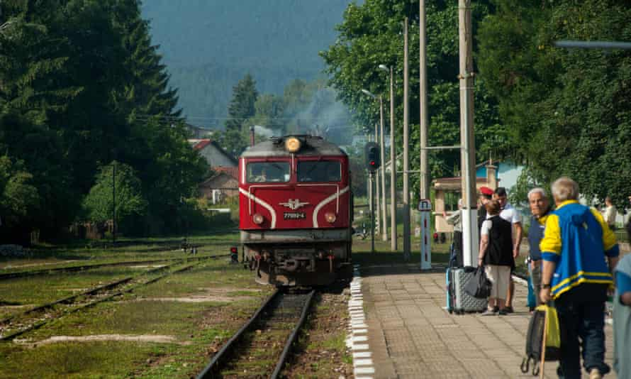 Slow rural trains, such as this one in Bulgaria offer the best experiences.