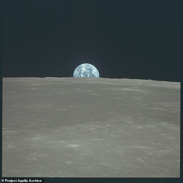 Among the new scans were higher-resolution views of iconic images such as this Earth rise