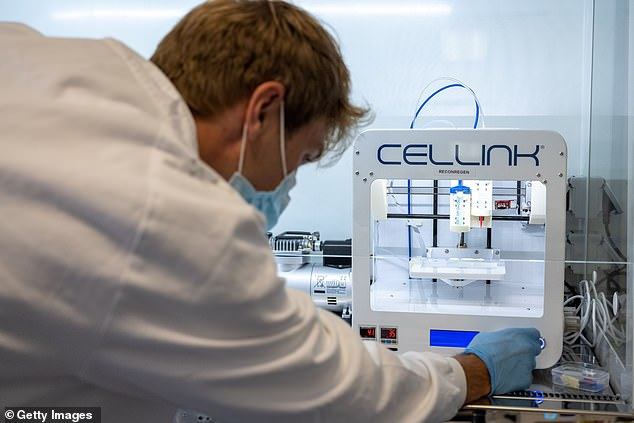 3D printers have been used to manufacture everything from prosthetic limbs to robots. This version emits a 'bioink' made from human cartilage specific stem cells and nanocellulose (derived from plants)
