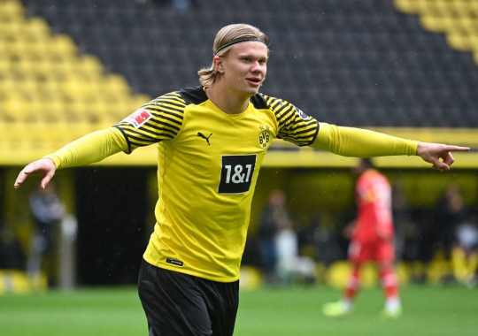 Erling Haaland has scored 57 goals in 59 appearances for Borussia Dortmund