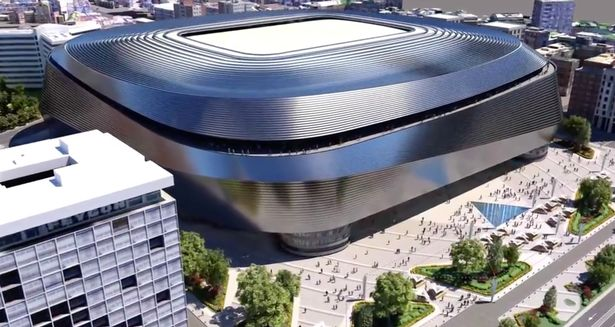An artist's impression of Real Madrid's new-look Santiago Bernabeu home
