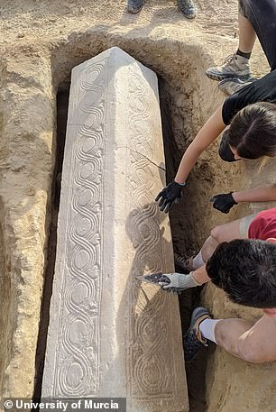 Archaeologists initially though they had found a pilaster, or ornamental pillar