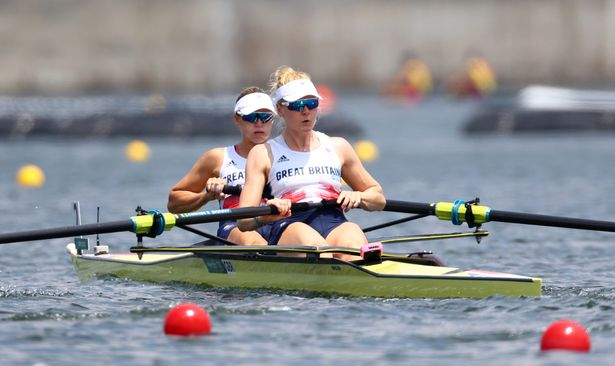 Helen Glover of Britain and Polly Swann