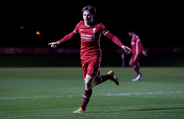 Ethan Ennis scored a 15-minute hat-trick after coming off the bench in Liverpool Under-18s' FA Youth Cup first round tie against Sutton
