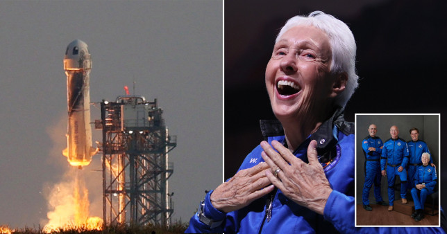 Wally Funk had been trying to visit space for six decades before the Blue Origin flight (Picture: Getty)