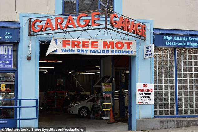 Repair bills could rise by £100 or more: New EU rules set to be adopted in Britain could see smaller independent garages like this one banned from using 'aftermarket' parts to repair cars, meaning drivers will have to pay extra to have manufacturer-branded components fitted