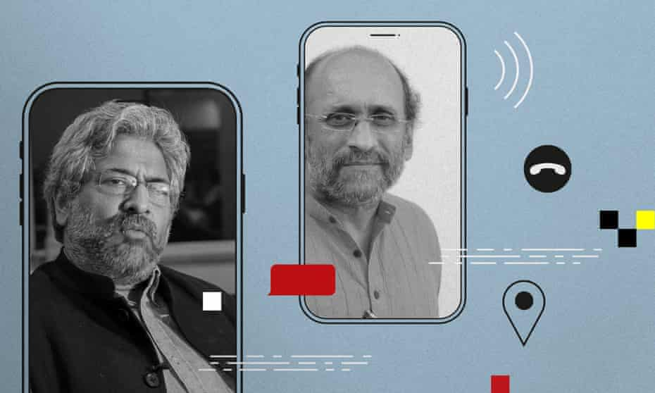 Left: Siddharth Varadarajan, co-founder of the Wire. Right: Paranjoy Guha Thakurta, a co-founder and a reporter at the Indian news website the Wire.
