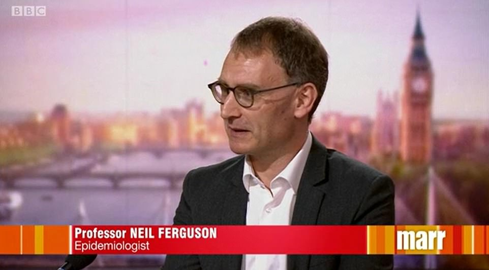 Prof Neil Ferguson said he 'can't be certain' over whether the country will need to lock down again in the winter before Christmas.