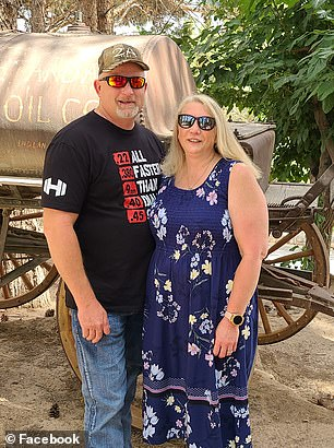 William Ball (left), 51, is hospitalized with COVID-19 after choosing not to get vaccinated. His wife Alicia (right) is asking for members of her community to get the shots to avoid the same happening to them