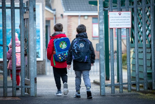 Record numbers of children were out of school for Covid-related reasons at the end of term (file photo)