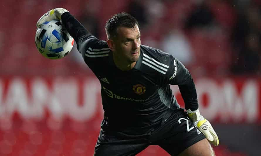 Tom Heaton, who re-signed for Manchester United earlier this month, in action during the pre-season friendly draw against Brentford.