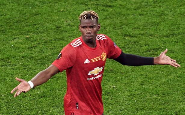 Paul Pogba is out of contract at Manchester United in 2022