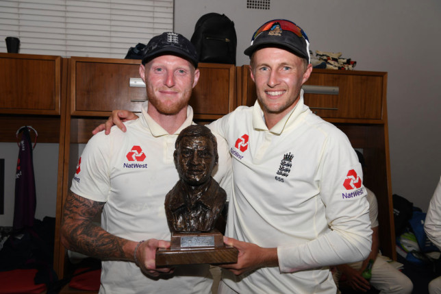 Ben Stokes and Joe Root look on after England's Test match with South Africa