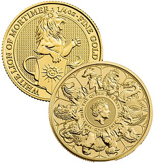 Coining it in: The Royal Mint sells a range of gold coins called The Queen's Beasts