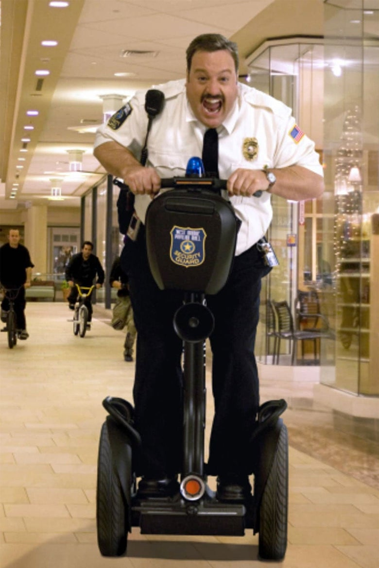Kevin James rides a Segway in a scene from Paul Blart: Mall Cop.