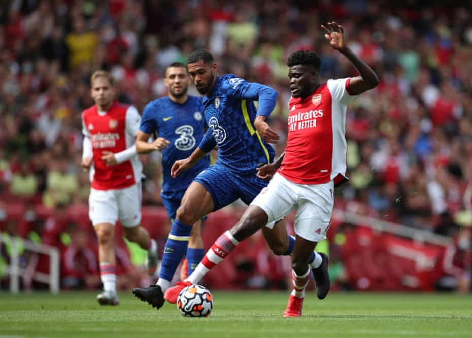 Arsenal's Thomas Partey in action during the pre-season game with Chelsea.