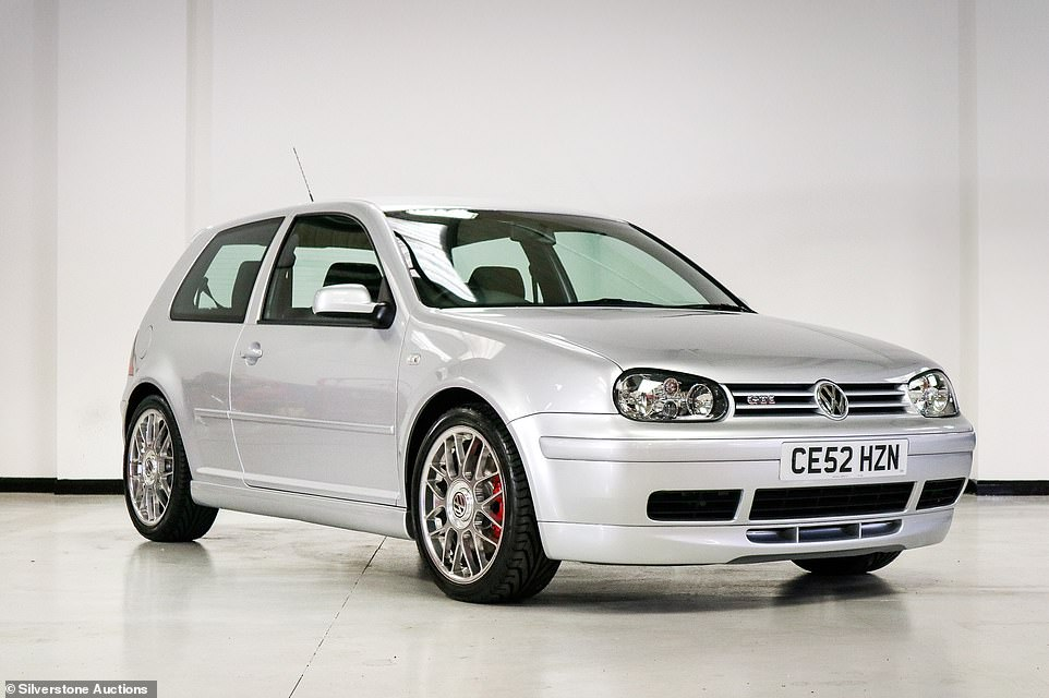 Good as new: The 2002 Volkswagen Golf GTI 25th Anniversary Edition isn't really considered one of the most collectible versions of the iconic hot hatch, which is why the decision to store it without it barely turning a wheel raised eyebrows ahead of the sale
