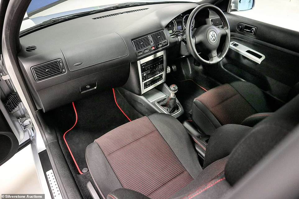 Costing around £18,500 when new some 19 years ago, the unused Golf GTI sold for more than twice that after a bidding frenzy broke out for the low-mileage hot hatch