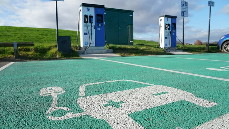 There has been criticism of the lack of public charging points for electric cars