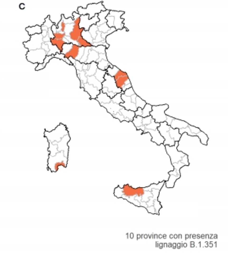 The above map shows where in Italy cases of the South African variant have been detected between June 5 and July 19. It reveals that outbreaks have been mostly based around Milan and away from southern cities and tourism hotspots. But there have been a few cases noticed by authorities on Sicily and Sardinia which are popular summer getaway destinations