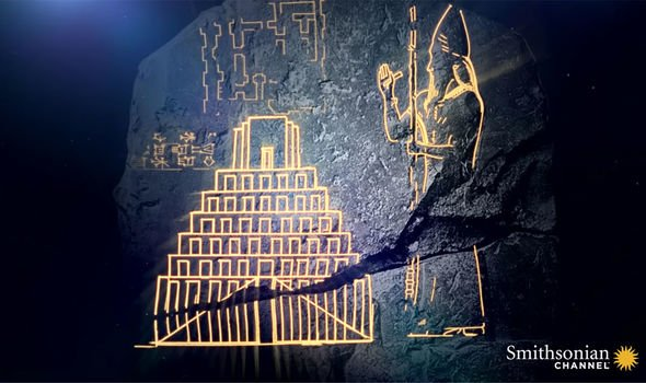 Tower of Babel: The slab showed clear carvings of the tower and its creator