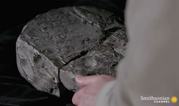 Ancient history: The slab had been held in a private collection before being deciphered