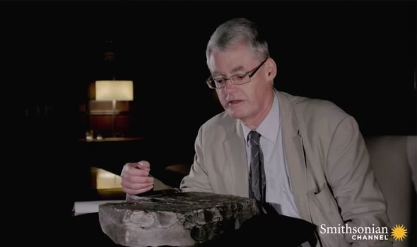 Archaeology latest: Dr Andrew George talked through the inscriptions