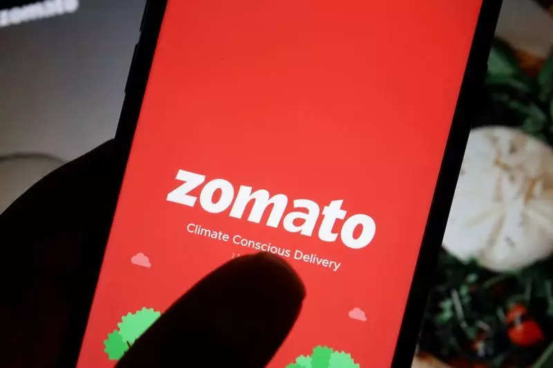 Illustration picture of Indian food delivery company Zomato