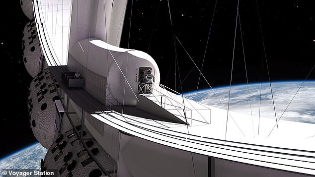 It isn't clear who is building the outpost, although one candidate is the Gateway Foundation, planning a ring-based station due for launch in 2027