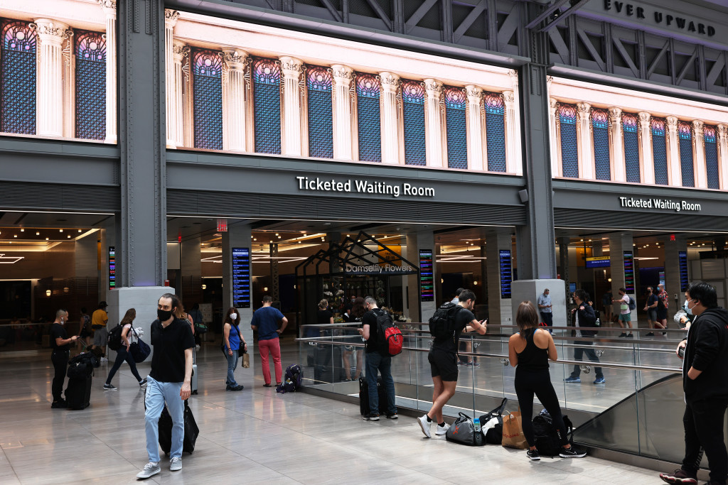 Some of the feedback on the new train station has been very positive.