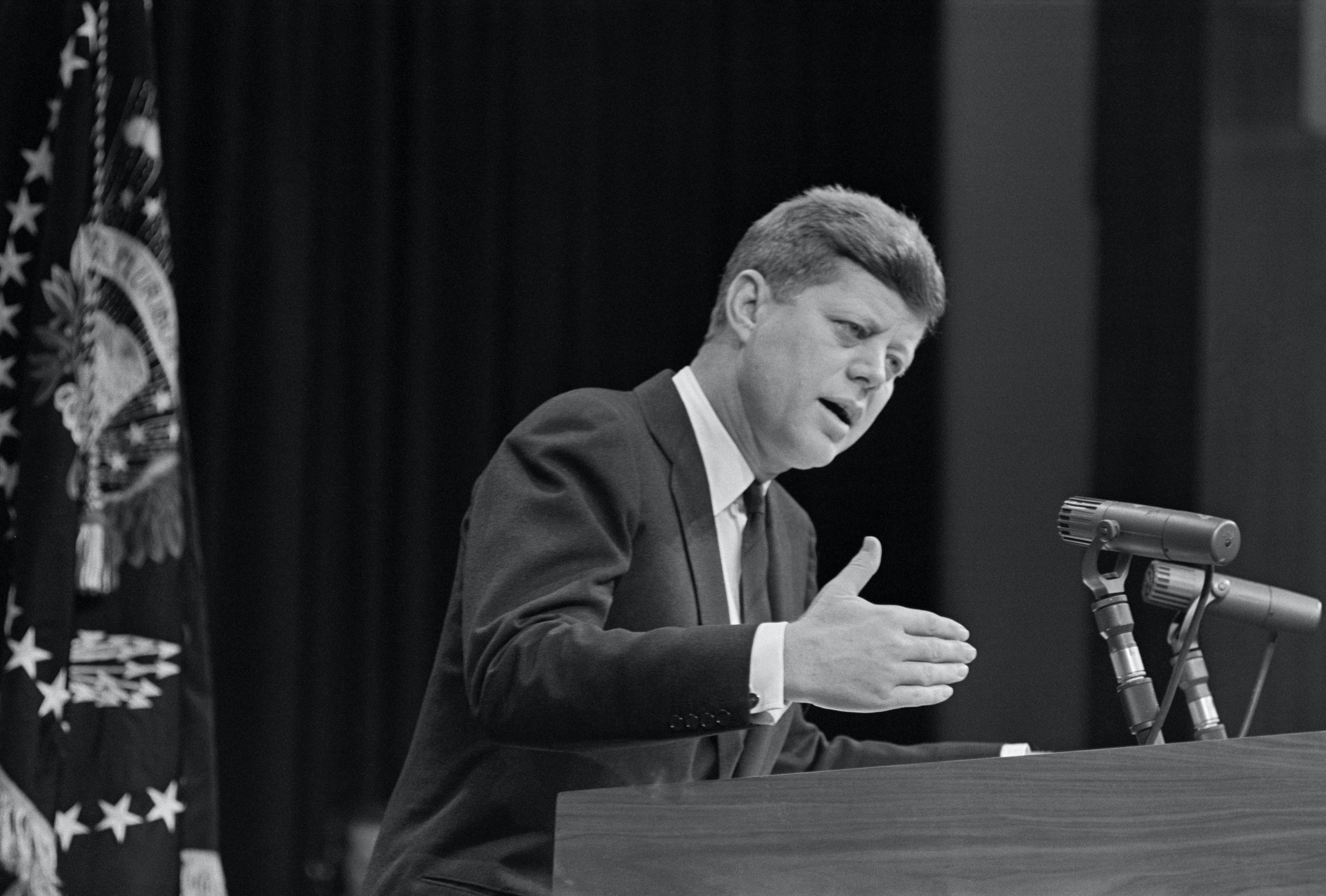 President John Kennedy at News Conference