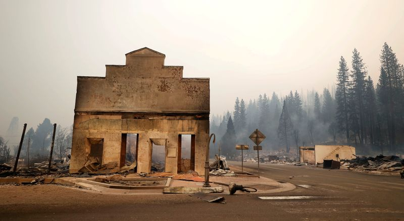California's largest wildfire leaves historic town in ashes