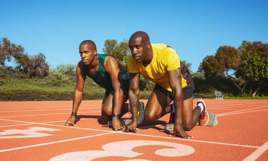 David Brown and Jerome Avery during a training session