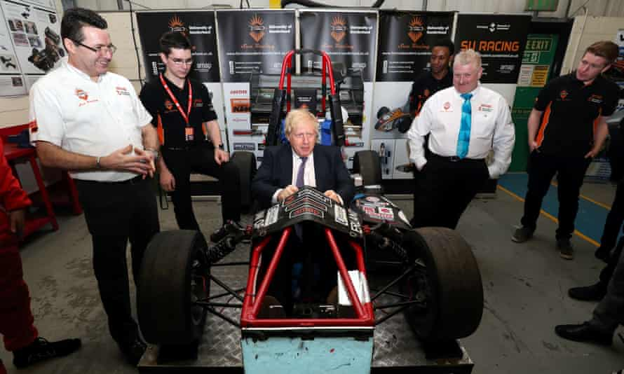 Boris Johnson visits The Industry Centre at the University of Sunderland. The university's vice-chancellor has asked for clarity on the measures the institution must take.