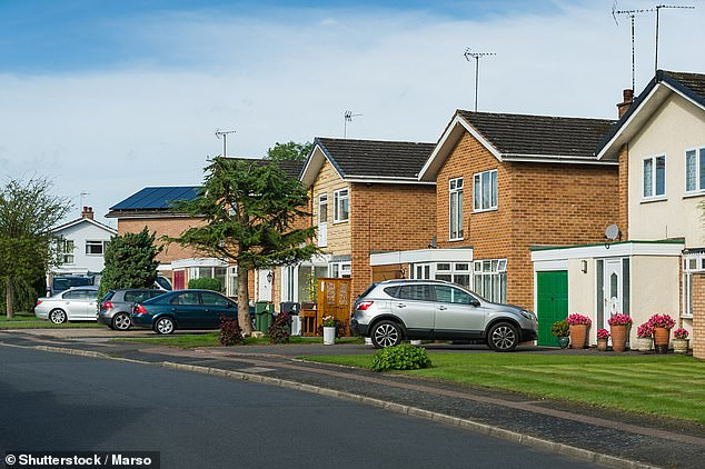 Soaring suburbia: Prices in areas surrounding Britain's major cities have shot up 10.8 per cent since March last year