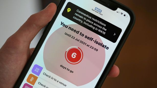 Record numbers of people have been pinged by the NHS Covid App to isolate in recent weeks