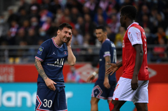 Lionel Messi finally made his debut for PSG against Reims