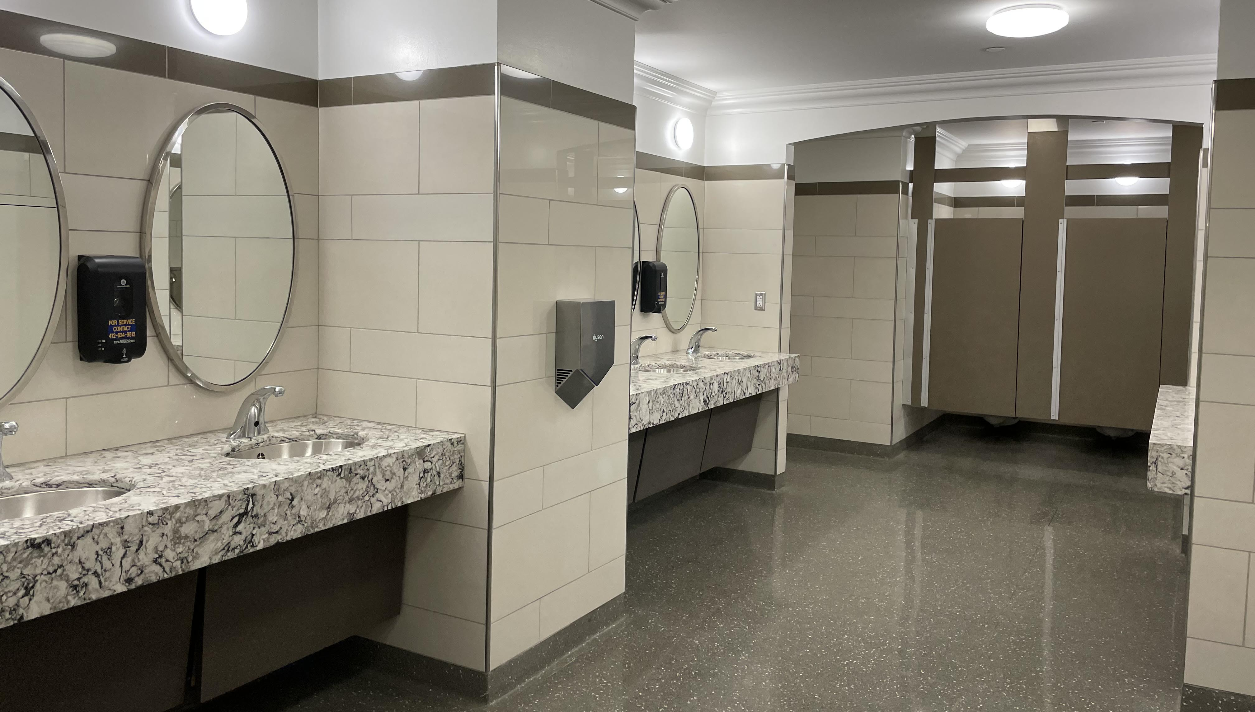 Women's bathroom in Cathedral