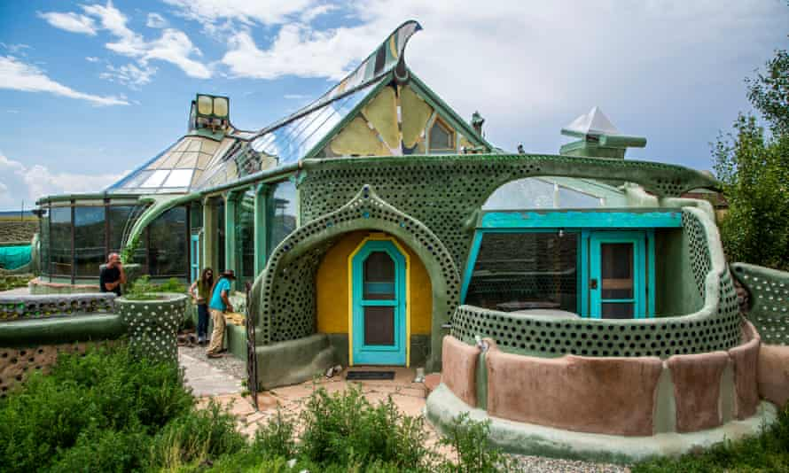 An Earthship home in New Mexico.