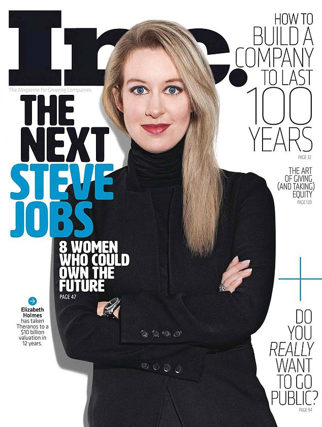 Holmes was once the world's youngest self-made female billionaire and was touted as the next Steve Jobs