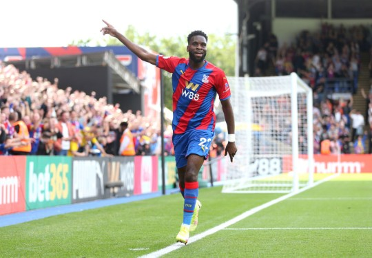 Odsonne Edouard scored twice in Crystal Palace's 3-0 win over Spurs