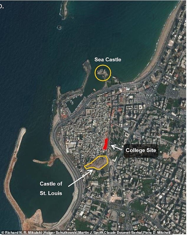 A team of international archaeologist uncovered the gruesome scene at Sidon Castle on the eastern Mediterranean coast of south Lebanon